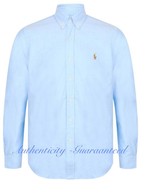ab3ad0f07 Ralph Lauren Men s Classic Fit Oxford Cotton Shirt Blue XS - XXL RRP £85