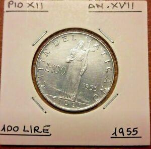 100-Lire-1955-lt-gt-1958-Roma-TTB-Cite-du-Vatican-Pius-XII-Vaticano-KM-55