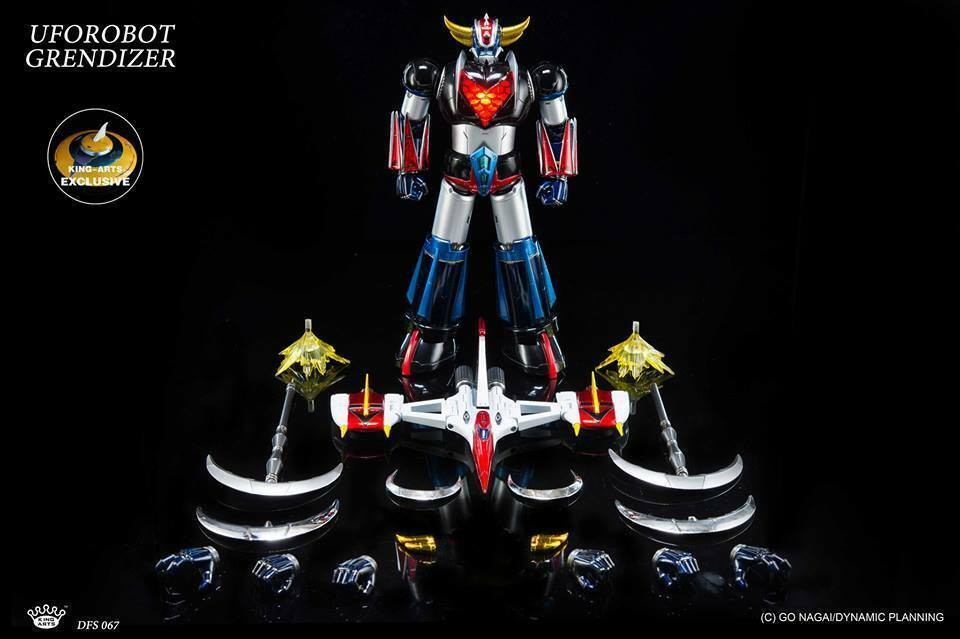 KING ARTS DIECAST FIGURE SERIES UFO Roboter Grendizer DFS067SV with TFO