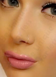 Extra Thin Small 05mm Nose Ring Small Nose Hoop Diameter 6mm8mm
