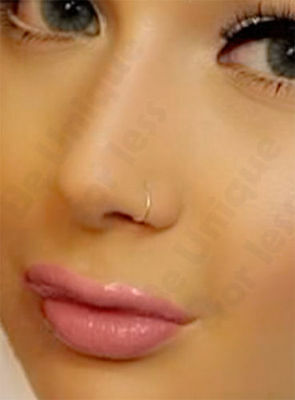 Extra Thin Small 0.5mm Nose Ring  Small Nose Hoop- Diameter 6mm,8mm