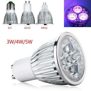 Details About E27 Gu10 Mr16 4w 5w Uv Led Ultraviolet Spotlight Lamp Light Mini Bulb Ac85 265v