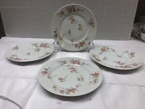 """B&C Limoges France L. Bernardaud & C"""" Floral Pattern Bread & Butter Plate 4 Pcs"""
