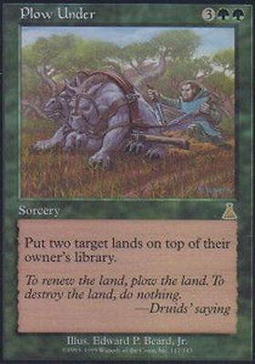 1 FOIL Plow Under Green Urza/'s Destiny Mtg Magic Rare 1x x1