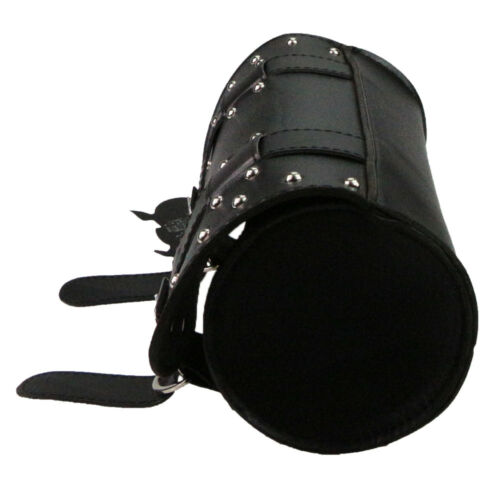Black Motorcycle Front Fork Tool Storage Bag SaddleBag for Harley Sporster Dyna