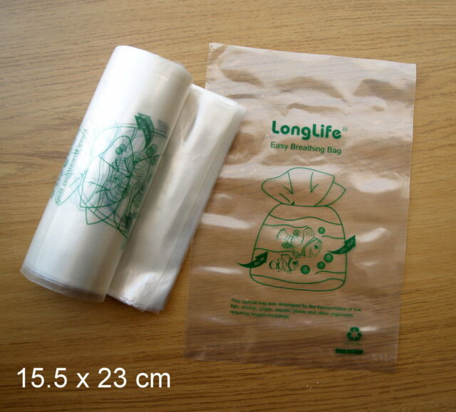 Kordon Breathing Bag Substitute Fish Transport 15.5cm x 23cm - 10 pcs