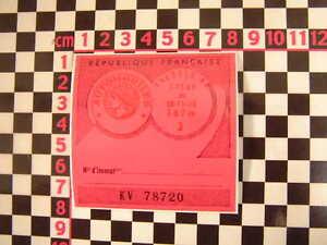 1969-French-Tax-Disc-Citroen-2CV-Dyane-HY-Van-DS-Ami-8-Renault-4CV-4-H-Ripple