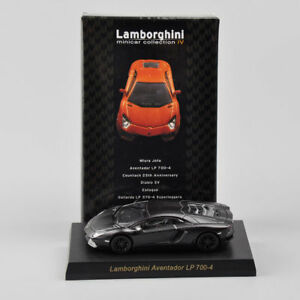 KYOSHO-1-64-Black-Diecast-Lamborghini-Aventador-LP700-4-Collectible-Car-Model
