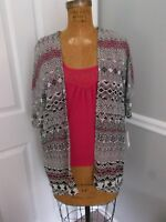 Three Pink Hearts Trixxi Pink Tank And Multi-color Sheer Cover Top - Xs -