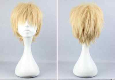 NEW Dramatical Murder Dmmd Noiz Light Yellow Blonde 30cm Short Cosplay Wig hr7