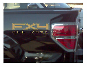 Set Gold 4x4 Truck Bed Decals for Ford Super Duty