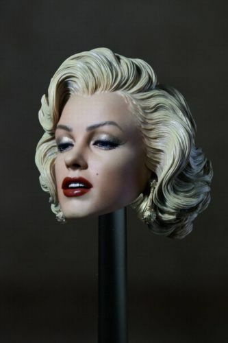 1//6 Female Star Marilyn Monroe Head Sculpt Head Carving Model F 12/'/' Figure Body