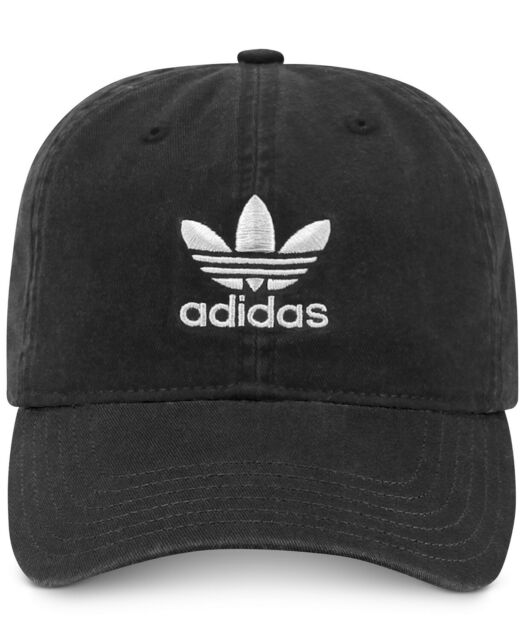 d9011b274 adidas Boys Youth Originals Washed Relaxed Cap One Size Black/white