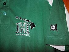HAWAII UH Warriors Football NCAA Shirt Bows Jersey Golf Island College Mens sz S