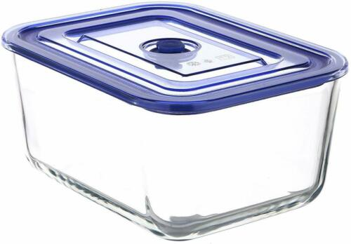 10-Piece Premier Glass Rectangular Food Storage Containers with Vacuum Seal Lids