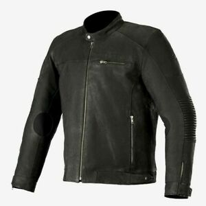 Alpinestars-Warhorse-Nubuck-Leather-Jacket-Black-Motorcycle-Jacket-RRP-349-99