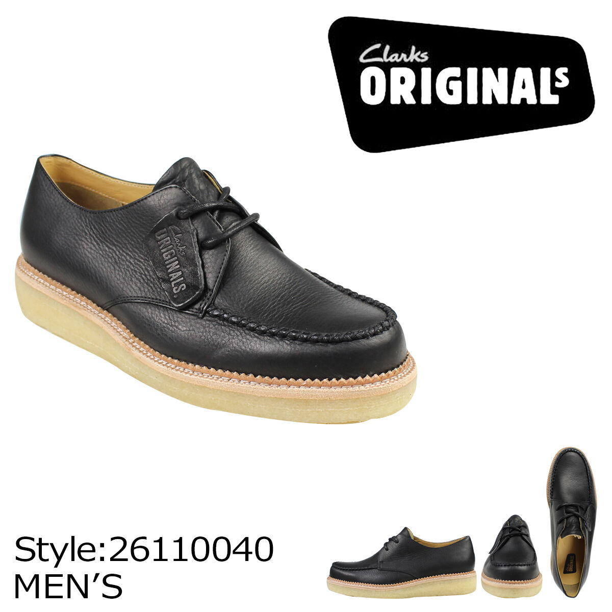 Clarks Originals ** Wallabee Beckery Beckery Beckery Field ** noir LEA ** G | La Mode