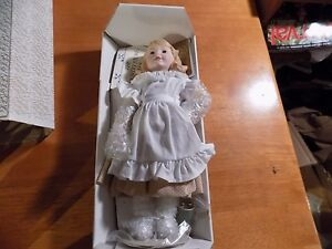 franklin heirloom dolls country store coats clark girl 1986 mib