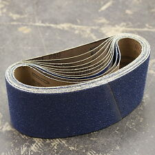 10 Zircone Abrasivi Levigatura Cinture 100mm x 610mm 60 g per tutti i metalli INC INOX