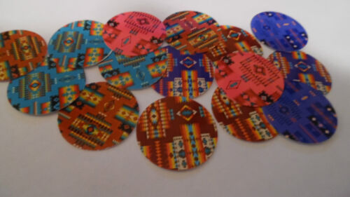 Pre Cut One Inch Bottle Cap Images Indian Cloth Pattern  Free Ship