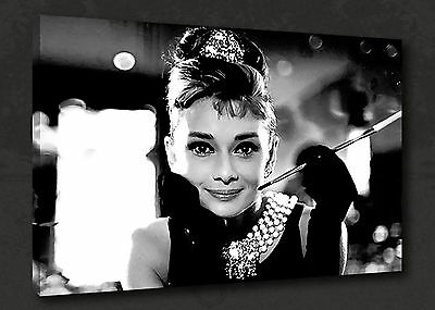 AUDREY HEPBURN ICONIC FILM MODERN CANVAS PRINT WALL ART PICTURE READY TO HANG