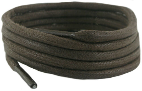 Shoe /& Boot Laces Brown waxed cotton 180 cm 5 mm round sold in 1 /& 2 Pair Packs