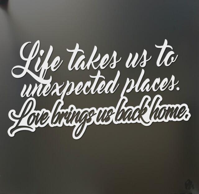 Life takes us Love brings us back JDM girl sticker JDM car truck window decal