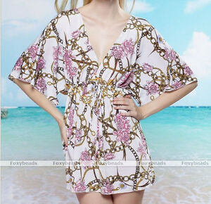 Sexy-Women-Rose-Flower-Chain-Beach-Swimwear-Bikini-Cover-Up-Sun-Dress-Bathing