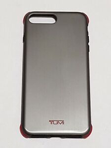 promo code 9bc94 81d7f Details about Tumi Protection Case for iPhone 8 Plus & iPhone 7 Plus -  Brushed Gunmetal Red