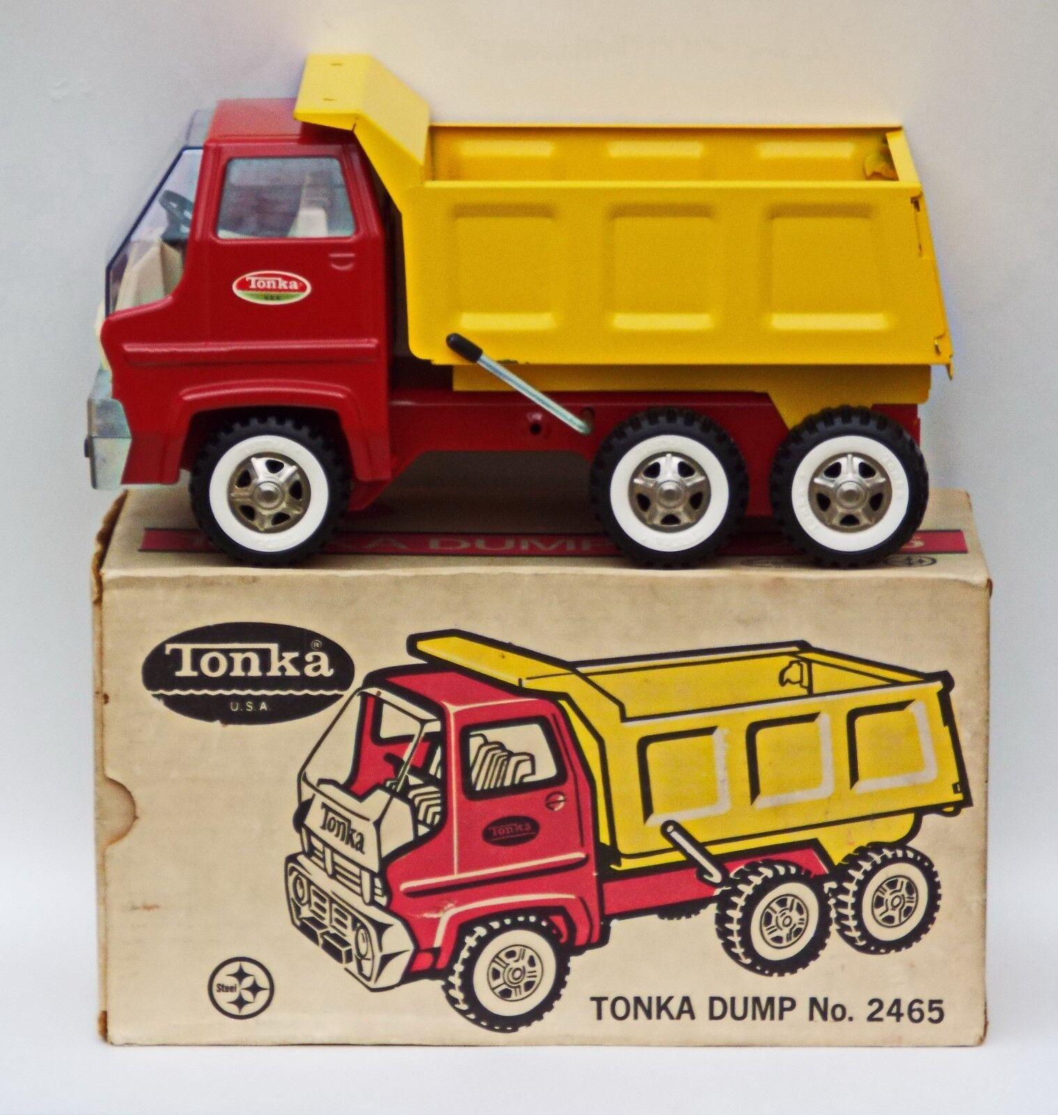 Tonka Camión con caja no 2465 Hauler construcción Coleccionistas grado década de 1970 Nuevo En Caja