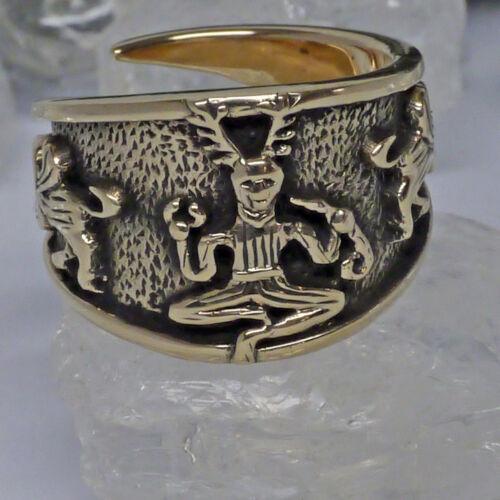 groß  60-70 Cernunnos Kessel von Gundestrup verstellbar Keltenring  Bronze Gr