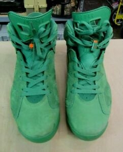 73f34ab8b24 Men's Nike Air Jordan 6 VI Retro NRG Gatorade Green Orange Size 10.5 ...
