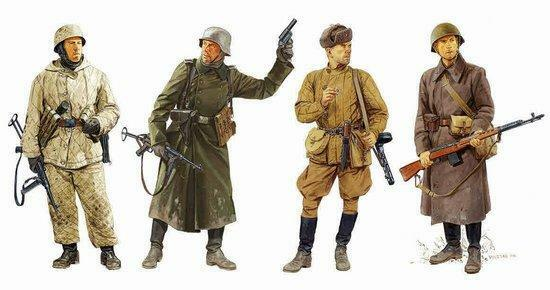 Dragon 1 35 Ostfront Winter Combatants 1942-43 4 Figures Set Model Kit 6652