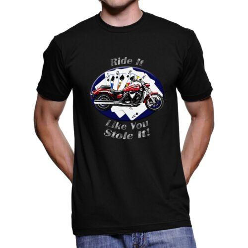 Yamaha V Star Ride It Men`s Dark T-Shirt