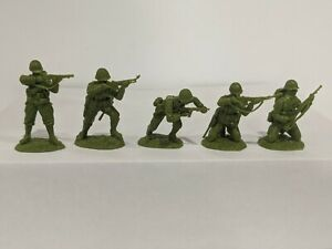 Conte-WWII-U-S-GI-039-S-Bloody-Omaha-5-Figures-Light-Medium-Green-Color-1-32-A
