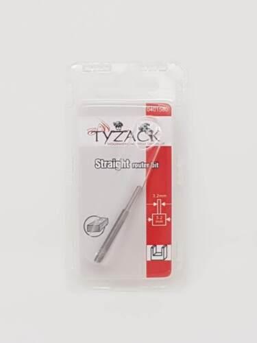 Tyzack 1580 Similar to Dremel 650 Router Bit HSS 3.2 mm Straight Bits x 4