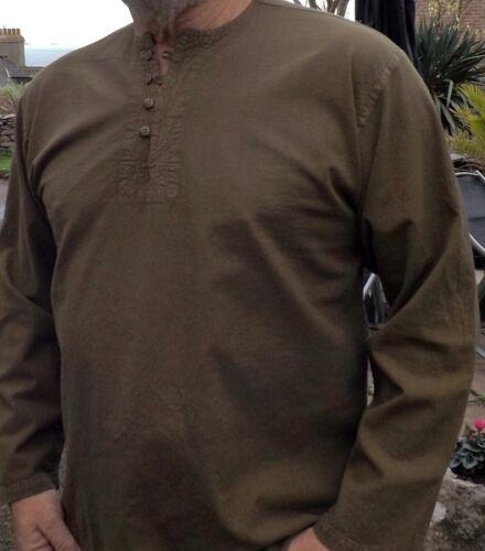 Stile Grandad Top Equipaggio Collo 100/% cotone da Kaboo Trading abbigliamento di qualità.