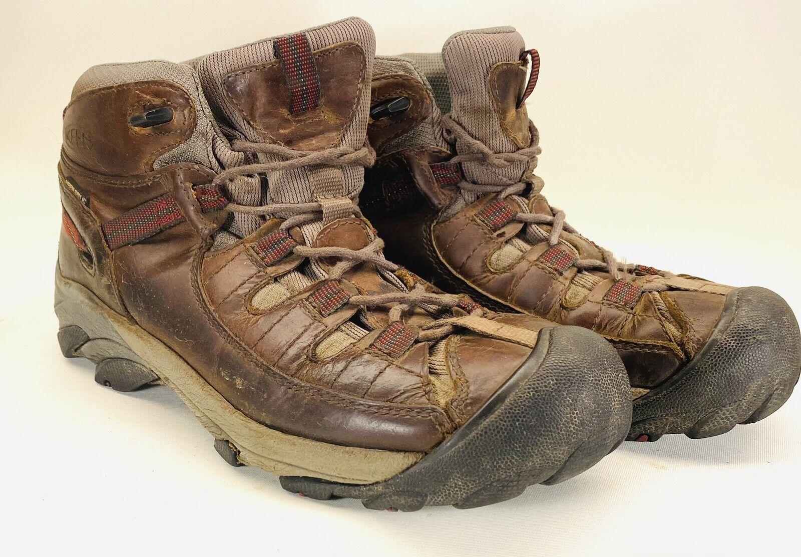 KEEN Mens Targhee Ii Raven/Tortoise Shell Hiking Boots Size 7.5 (1254181)