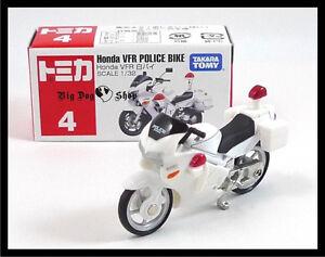 TOMICA-4-HONDA-VFR-POLICE-BIKE-1-32-TOMY-GIFT-TOY-CAR-DIECAST-CAR