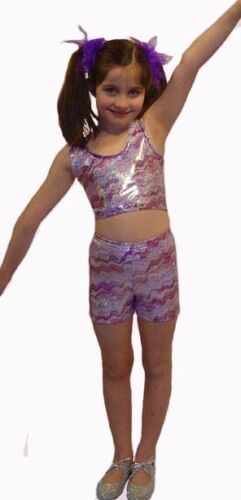 Comps etc! Girls Stretch Sparkle Hot Pants Jazz Child/'s Ideal for Disco Gym
