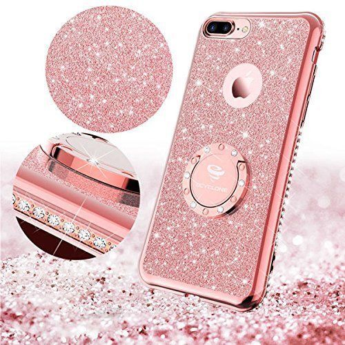 huge discount e43ff aa926 Luxury Bling Diamond Ring Holder Stand Case Cover For iPhone 7 8 Plus 6/6s  XR XS