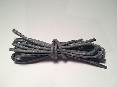 3mm Algodón Encerado Redondo Zapato/Bota Cordones hecho en el Reino Unido 5 Tamaños 13 Colores