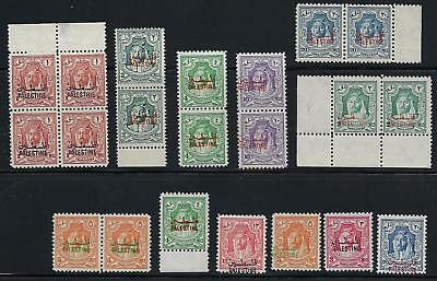 Verarbeitung In Jordan Palästina 1948 King Abdullah Issues With Misplaced Ovpt 7 Paare One Ovpt Exquisite