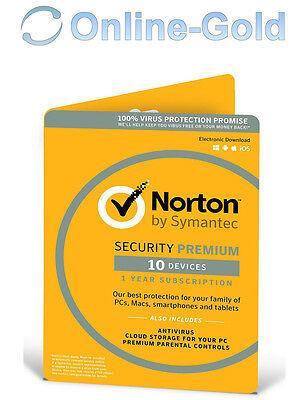 Norton Security Premium 10 Devices 1 User 25GB PC MAC iOS Android[UK][EU]