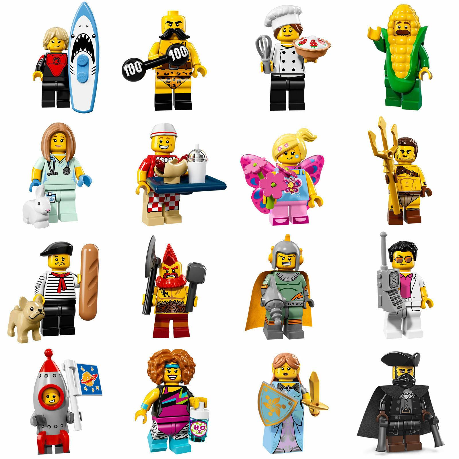 Lego MINIFIGURES - serie 17- COMPLETA 16 personaggi