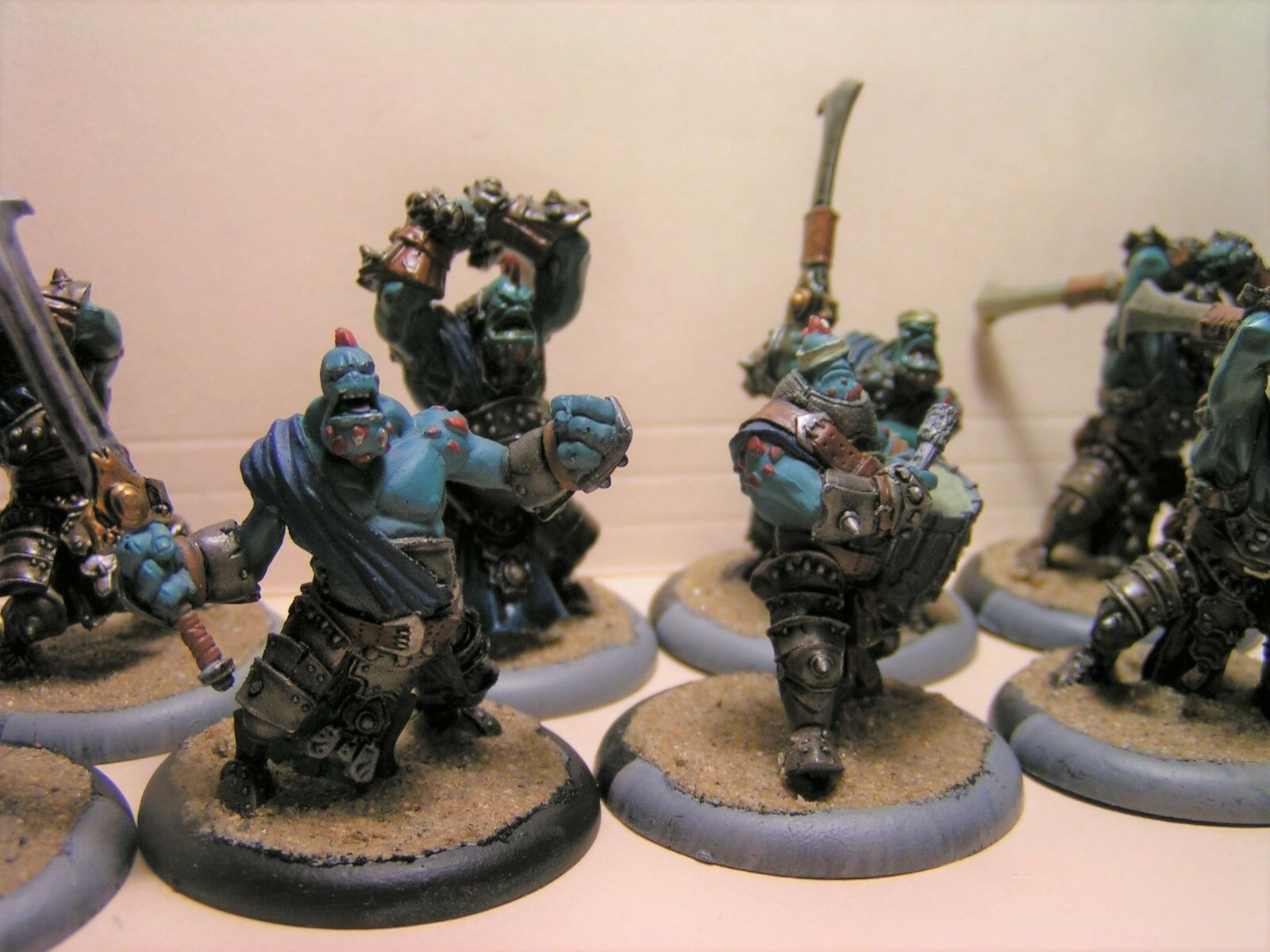 Trollbloods  Fennblades, max unit with UA- well painted  Priced to sell