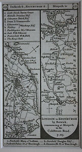 Original-antique-road-map-Edinburgh-Dalkieth-Northumberland-Paterson-1796