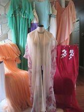 VTG Clothing Lot 50s 60s 70s Dress Caftan 8 pc lot as is Chiffon Cabaret Dress