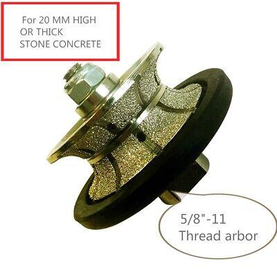 "3//4/"" Full Bullnose Diamond 20mm V20 Router Bit Granite Cup 20 Pad Concrete Stone"