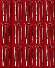 New 48 Instruments Basic Dental Set Mirror Explorer College Plier German Grade